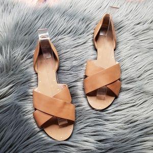 Madewell Crisscross Thea Sandals in Cognac